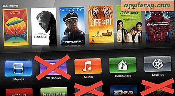 Kanalen, apps en pictogrammen verbergen op Apple TV