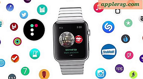 "Trois ""Apps at a Tap"" Lancement d'Apple Watch Ads"