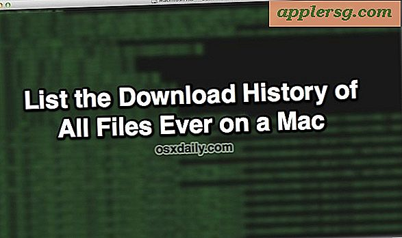Vis downloadhistorik Liste over alle filer, der nogensinde er downloadet inden for Mac OS X