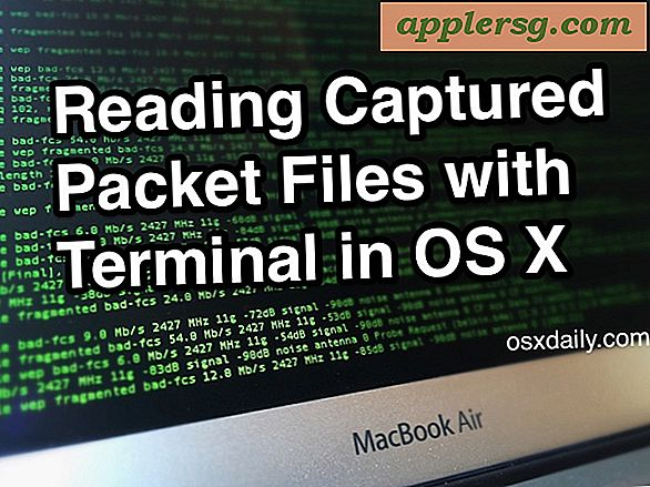 Så läser .cap Packet Capture File på Mac OS X med tcpdump
