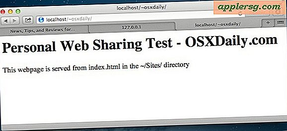 Starten Sie einen Apache Web Server unter Mac OS X Mavericks & Mountain Lion