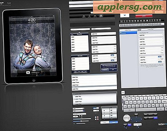 iPad og iPhone GUI PSD-filer