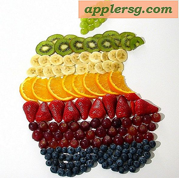 Apple Logo Made of Fruit