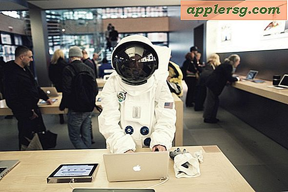 Astronaut in de Apple Store