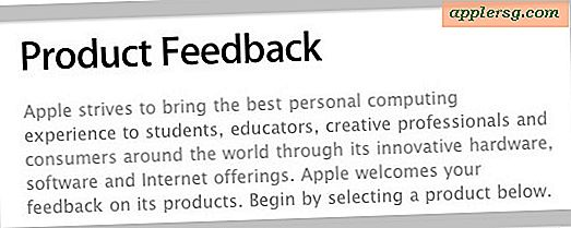 Stuur Apple feedback over producten