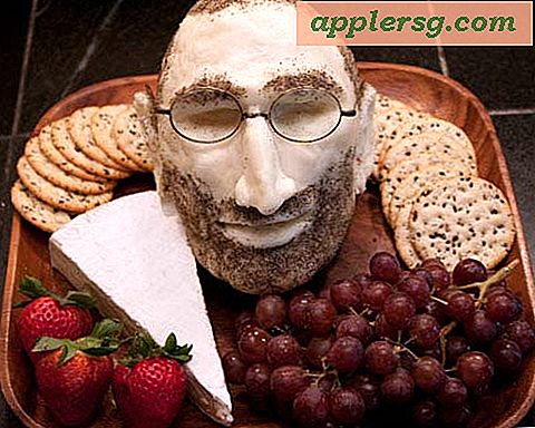 Steve Jobs Head Made from Mozzarella Cheese