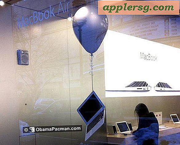 Floating MacBook Air im Apple Store entdeckt