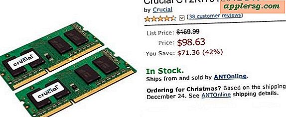 Cruciale 8 GB RAM-upgrade voor MacBook Pro, Mac Mini, iMac: $ 98