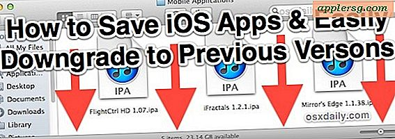 Come salvare le app per iPhone e iPad e downgrade di un'app a una versione precedente