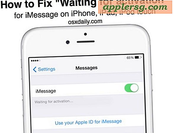 "Fix iMessage ""Waiting for Activation"" Fejl"