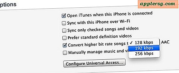 Converti bit rate dei brani su dispositivi iOS con iTunes