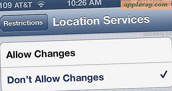 Verbeter Find My iPhone door locatieservices te vergrendelen