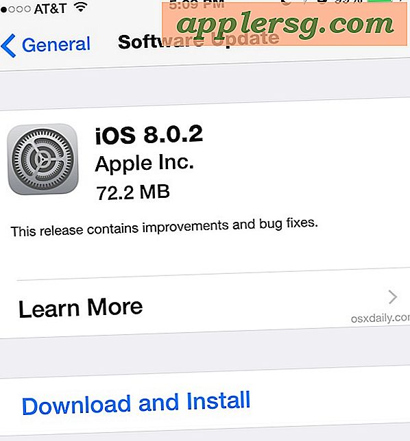 IOS 8.0.2 Update Released with Bug Fixes för iPhone, iPad, iPod touch