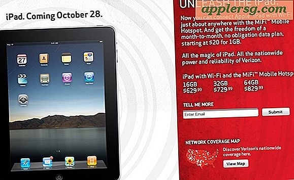Verizon iPad udgivelse sat for 28. oktober