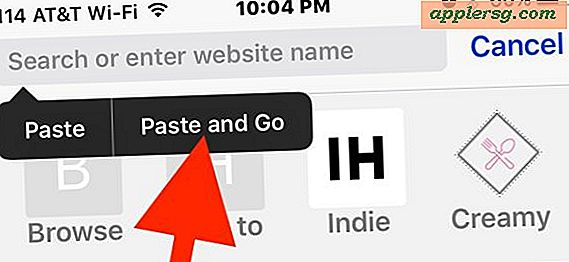 Visita gli URL del sito web più velocemente in iOS Safari con Paste and Go