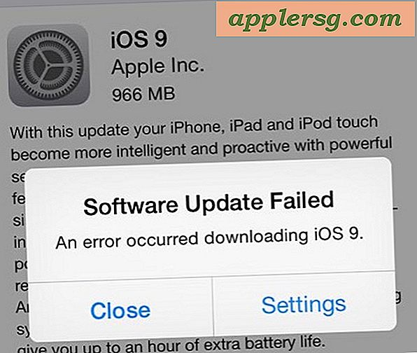 "2 Oplossingen voor de fout ""Software-update mislukt"" iOS 9 downloaden"