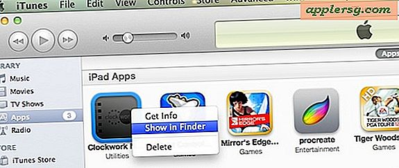 Vis en iOS-app i Mac OS X Finder