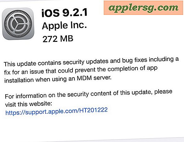 IOS 9.2.1 Släppt för iPhone, iPad, iPod touch [IPSW Direct Download Links]