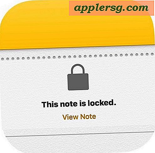 Comment mot de passe Lock Notes sur iPhone et iPad