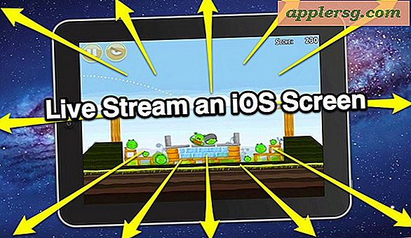Live Stream en iPhone eller iPad Screen & Broadcast til Internett eller iMessages