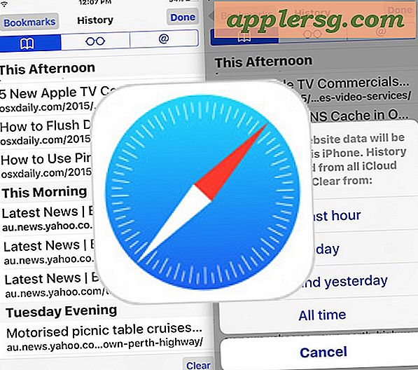 Hoe recente Safari Search & Web Browsing History op iPhone & iPad te verwijderen