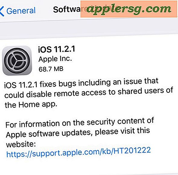 iOS 11.2.1 Update Udgivet med HomeKit Security Fix [IPSW Download Links]