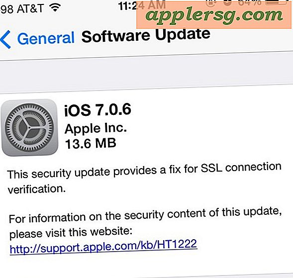 iOS 7.0.6 uitgebracht met Important Security Fix voor iPhone, iPad en iPod touch