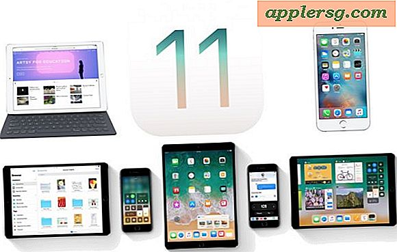 Hoe iOS 11 op iPhone of iPad te updaten en te installeren