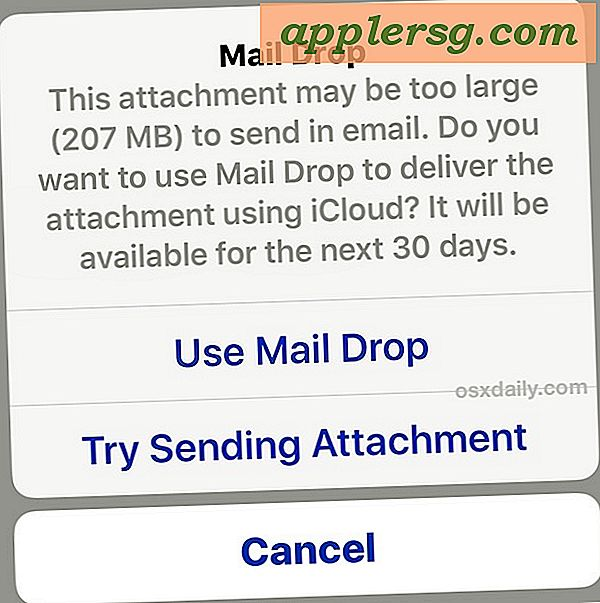 Slik bruker du Mail Drop i iOS for å sende store filer via e-post