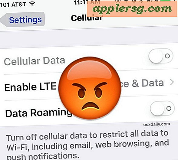 Cellular data fungerer ikke i iOS 9 på iPhone eller iPad?  6 Fejlfindingstips