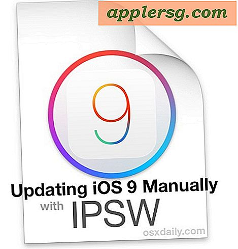Sådan installeres iOS 9 på iPhone eller iPad manuelt med firmware i iTunes