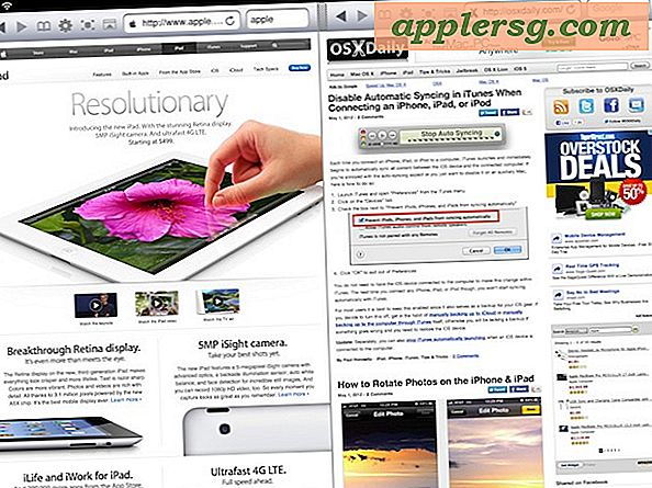Se to websider side om side på iPad med Dual Browser