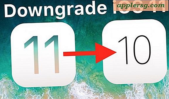 Hoe iOS 11 te downgraden naar iOS 10.3.3 op iPhone en iPad