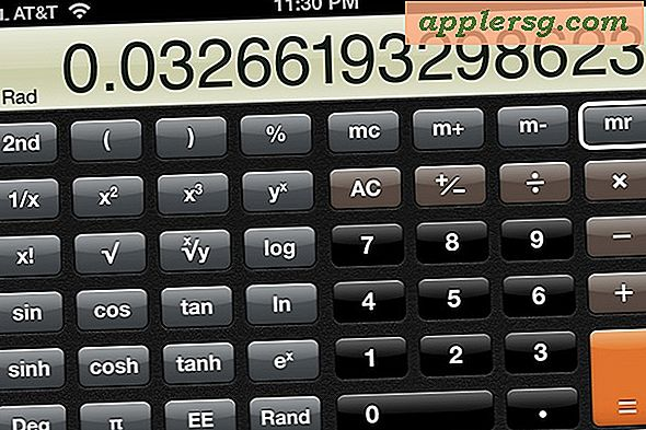 Skift iPhone til en videnskabelig calculator ved at rotere Calculator App