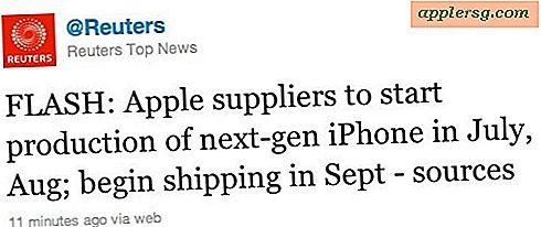 iPhone 5 leveransdatum i september, enligt Reuters