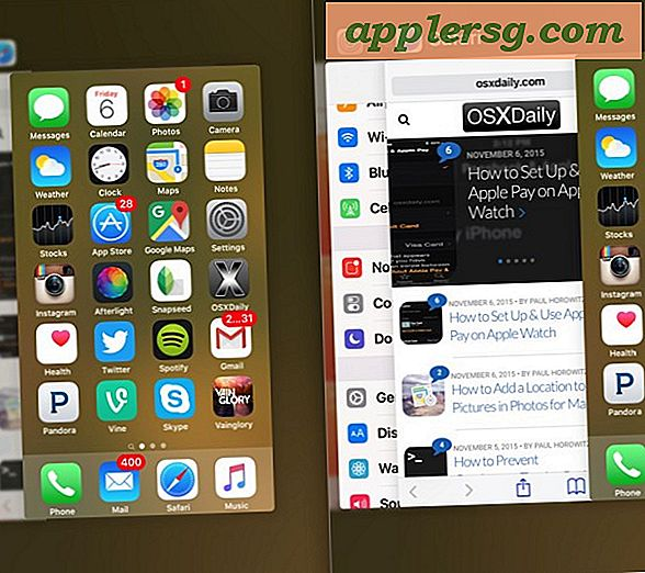 Åpne Multitasking App Switcher med 3D Touch på iPhone