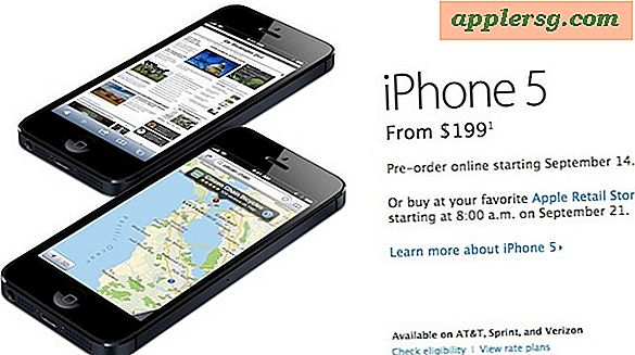 Starttid for iPhone 5 Pre-Orders er 12:01 PST den 14. september