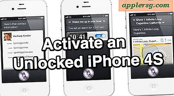Hoe een ontgrendeld iPhone 4S te activeren