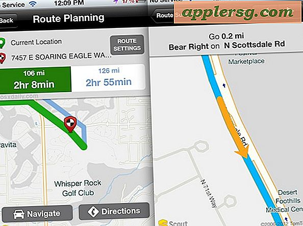 Få Turn-by-Turn Voice Navigation Gratis på iPhone 4 og iPhone 3GS med speider