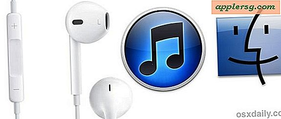 Brug White EarBuds til at styre iTunes i Mac OS X