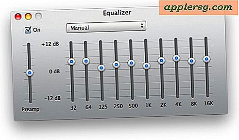 Öppna iTunes Equalizer Settings