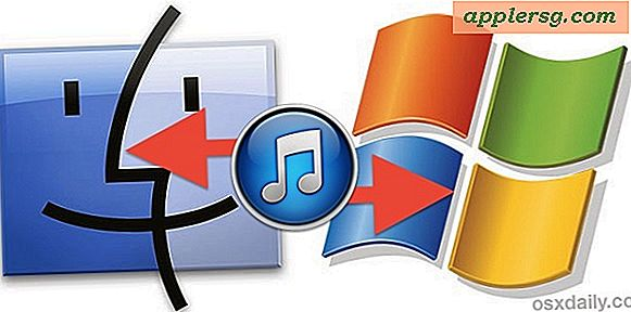 Kopier iTunes-bibliotek fra en Windows-pc til en Mac