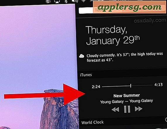 Come abilitare il widget di iTunes Notification Center in OS X
