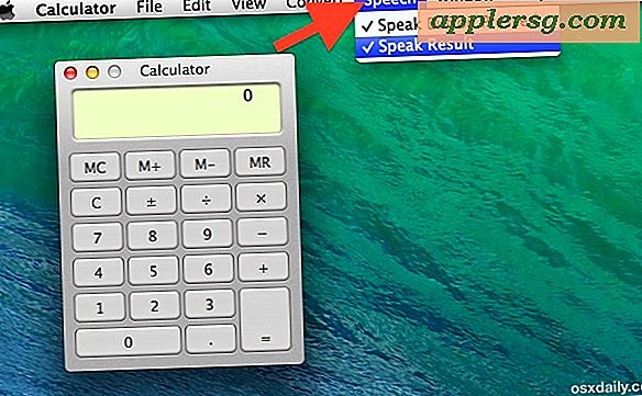 Aktivér Talking Calculator i Mac OS X