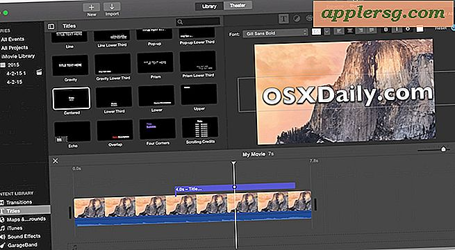 Come aggiungere testo al video con iMovie in Mac OS X