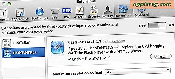Indlæs Flash Video som HTML5 automatisk med FlashToHTML5 Safari Extension