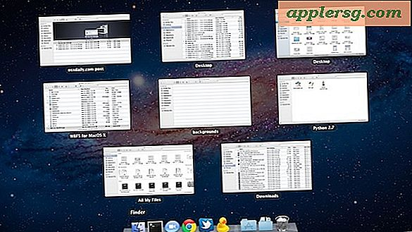 Vis alle Windows for en app i Mac OS X med Mission Controls Exposé