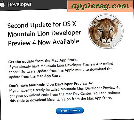 OS X Mountain Lion Developer Preview 4 Mise à jour 2 Sortie