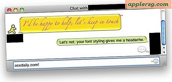 Verhindern nerviges IM-Text-Styling mit iChat