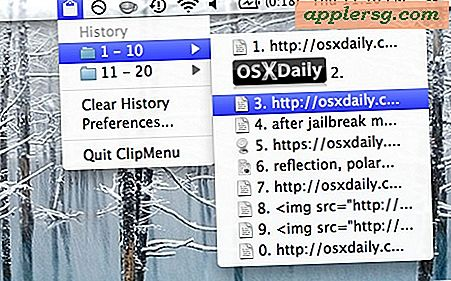 Beheer Clipboard History in Mac OS X met ClipMenu